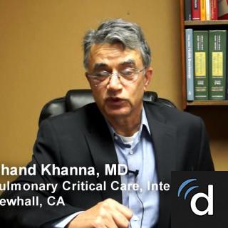 Chand Khanna, MD, Pulmonology, Newhall, CA, Henry Mayo Newhall Hospital