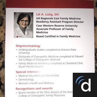 Dr  Lili Lustig, Family Medicine Doctor in Bedford, OH | US