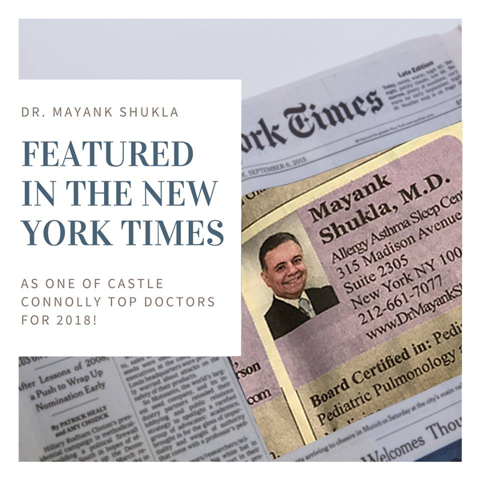Dr  Mayank Shukla, MD – Albertson, NY | Pediatric Pulmonology
